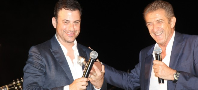 APPROCHING THE GLOBAL AUDIENCE WITH POPULAR CELEBRITIES: ABC TELEVISION'S LATE NIGHT HOST JIMMY KIMMEL AND MEDIASET ICON EZIO GREGGIO BEING HONORED FOR THEIR SIGNIFICANT CONTRIBUTIONS TO THE TELEVISION INDUSTRY.