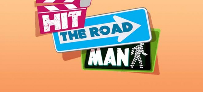 """""""HIT THE ROAD MAN,"""" THE TV-MAGAZINE HOSTED BY PASCAL VICEDOMINI, CANALE 5 - ITALY. A co-production of IIP and Ege Produzioni for Mediaset. COMING SOON THE SERIES"""