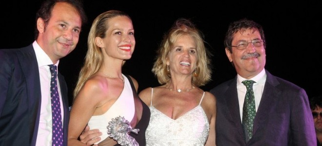 BRINGING THE MOST COMMITTED EDUCATIONAL LEADERS INTO DISCUSSIONS TO BENEFIT THE NEW GENERATION OF STUDENTS. PEGASO UNIV. CEO, DANILO IERVOLINO, WITH PHILANTHROPIST PETRA NEMCOVA, HUMANITARIAN ICON KERRY KENNEDY AND ISCHIA I.A.A. PRESIDENT G. CARRIERO
